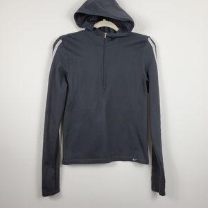 Nike Seamless Fitted Hooded 1/4 Zip Sweatshirt